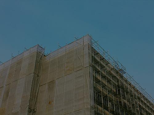 建築物の養生及び片付け清掃